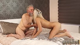 Threesome massage big tits blonde and mature sensual blowjob xxx