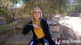 Real Teens - nerdy teen Katie Kush pov sex