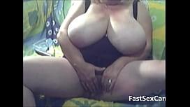 Blonde Granny Big Boobs masturbating