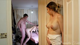 She watches her TWIN SISTER fuck her DAD, then takes her turn! kinkycouple111