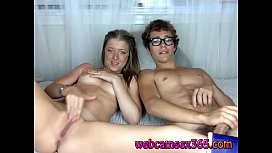 Hipster Couple Fucking on Webcam - webcamsex365.com