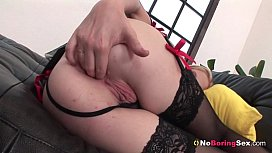 Blonde Laura In Her Black Lingerie