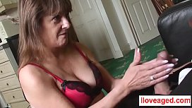 Pandora is a mature lady who strip naked   in front of a musculine man
