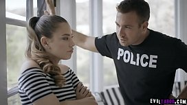 Bobbi Dylan and her fiancee finally meet her cop brother in law.He knew Bobbis past so he exploited and fuck her to keep her dirty secret untold.