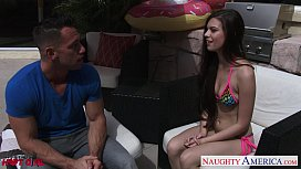 Sexual Zoe Wood gets fucked outdoors