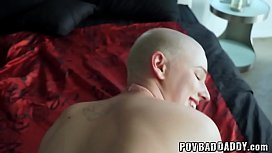 Teen babe facialized by her horny stepdaddy