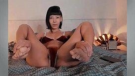 Asian feet in face - more videos on CamGirlsBrazil.ml