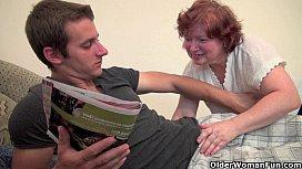 Full figured grandma seduces s.'_s friend
