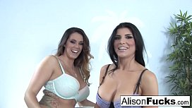 Alison Tyler &amp_ Romi Rain fuck each other for the first time