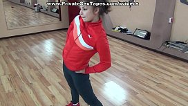 Sexy amateur gi iend fucked in the dance studio heavily