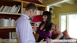 Horny office babe Sophie Dee fuck