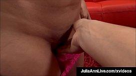 Mega Milf Julia Ann Performs A Work Of Art On A Hard Cock!
