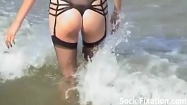 We are going to get wet and have a foot fetish orgy