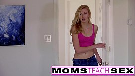 Moms Teach Sex -  Hot mom caught jerking off step s.