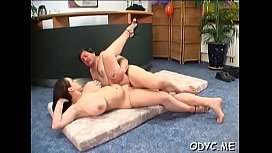 Steamy old and juvenile action with fat dude banging hot playgirl