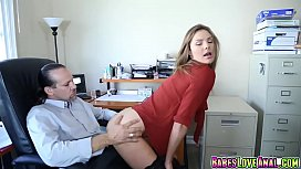 a Ryder giving her Boss Mr Rich a blowjob