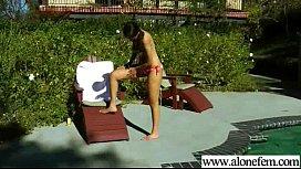 nadia noel Nau Alone Girl Play With Sex Dildo Toys video