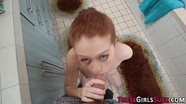 Pov ginger teen face jizz