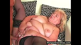 Blonde fat granny Edna