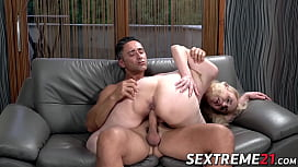 Lustful granny doggystyled by younger muscular stud