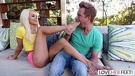 LoveHerFeet - Stunning Young  Blonde Gives a Hot Foot Fuck lexxxilix