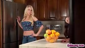 Katie Morgan tries her best to satisfy Aria Lee!