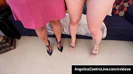 Massive Booby Lesbos Angelina Castro & Sofia Rose Masturbate