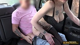 Kinky brunette American Demona have sex with a taxi driver