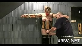 Girl plays along guy's desires in pointer sisters torture sex scenes