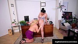 Hot BBW Attorney Angelina Castro StrapOn Bangs Karen Fisher!