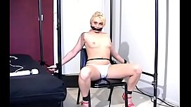 Ribald whore gets strapped and titillated with sextoys