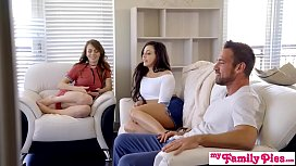 Step Sisters Agree To Share Step Daddys Cum - MyFamilyPies S3:E1