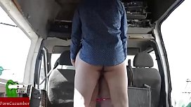 In the morning chubby girl fucks in the van RAF