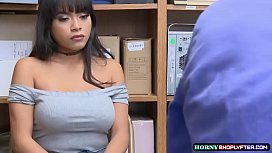 Shoplifter Aryana rides Officers huge cock