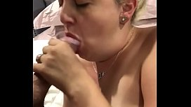 Perfect blowjob from wife
