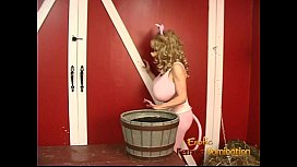 Hot playgirls with massive melons enjoy some kinky dungeon fun