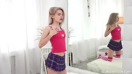 Teen Herda masturbating with her toy