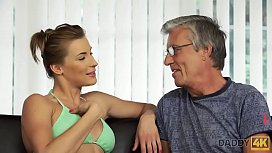 DADDY4K Relaxed Chick Is In Mood For Encounter With Handsome Old Dad