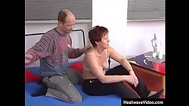Yoga turns to sex for this mature couple
