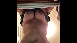 Freddy Plays with Huge Boobs and Fucks Hotel Whore on video - Great View From Below