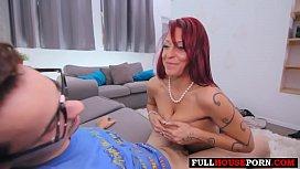 stepmom helps virgin stepson