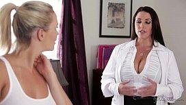 Huge natural tits seducing the lesbian worker Mia Malkova Angela White