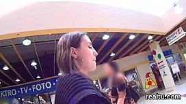 Stellar czech teen is seduced in the mall and reamed in pov