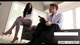 LoveHerFeet - Divorce Lawyer Toe Sucks His Clients Pretty Petite Feet
