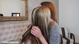 Petite lesbian Gina Gerson has sex with a natural redhead teen girl