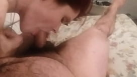 Slutty Stepdaughter blows Daddy for the first time