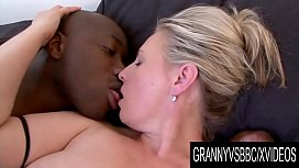 Granny Vs BBC - Older Blonde Nicol Loves Getting Blacked