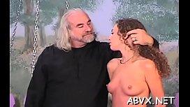 Big tits chick bizarre bondage in excited home scenes