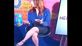 SPICY HOT INDIAN TV ANCHOR CRICKET SHOW