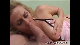 Smoking Mature Gives Blowjob To A Fat Cock